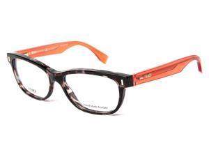 Fendi FF 0034 RXD Havana Gray Rectangular Women's Eyeglasses