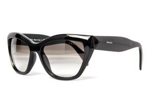 Prada SPR 02Q 1AB-0A7 Black/Gray Gradient Women's Cat Eye Sunglasses