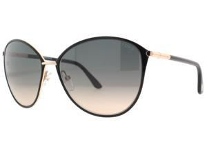 Tom Ford  Penelope TF 320 28B Black Women's Oversized Butterfly Sunglasses