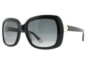 Juicy Couture 565/S 807 Shiny Black Grey Gradient Womens Oversized Sunglasses
