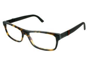 Gucci GG 1066 04UR Matte Havana/Brown Unisex 54mm Eyeglasses