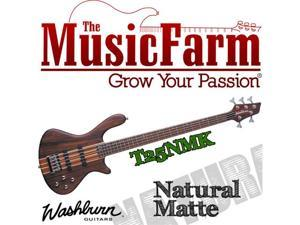 Washburn T25NMK 5 string Electric Bass Guitar with Gigbag - Natural Matte
