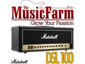 Marshall DSL DSL100H 100 Watt All Tube Electric Guitar Amplifier Amp Head