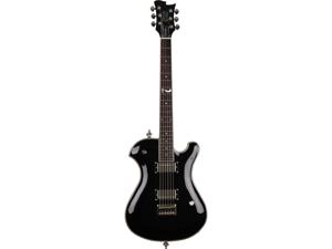 Sozo Z Series Z8 Single Cut Electric Guitar with Case - Classic Black