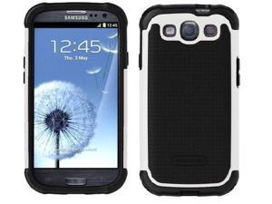 AFG Ballistic SG Soft Shell Gel Series Case Cover White Black for Samsung Galaxy S3 SIII S 3 III In Retail Box SG0930-M385