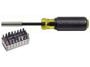 Klein 32510 Magnetic Screwdriver With 32-Piece Tamperproof Bit Set