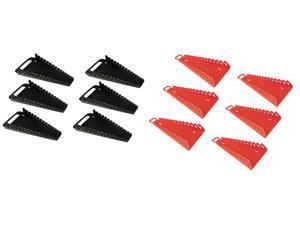 6/PACK-ERNST Mfg 5089 BK + 5188 RD GRIPPER 15 Wrench Organizer- YES 6 Each