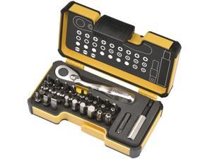 Felo XS 33 StrongBox with screwdriver bits for slotted/Phillips/Pozidriv/Torx/Hex and Security Torx screws, 33 pieces