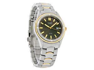 Citizen Mens 2Tone Charcoal Quartz Watch BK2284-54H