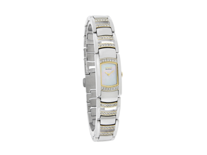 Eco-Drive Silhouette Crystal Mother-of-pearl Dial Women's watch #EG2734-56D