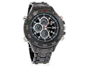Surface Mens XL Formula Black Analog-Digital Quartz Chronograph Watch 32181