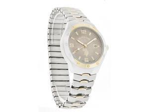 U.S. Polo Mens Classic Stretch Expansion Band Two Tone Quartz Watch USC80054