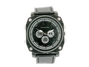 Structure by Surface Mens XL Black Analog-Digital Chronograph Quartz Watch 32477