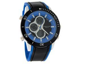 Structure by Surface Mens Analog-Digital Chronograph Blk/Blu Quartz Watch 32633
