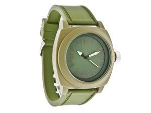 Structure by Surface Mens XL Khaki Green Dial Rubber Strap Quartz Watch 32475