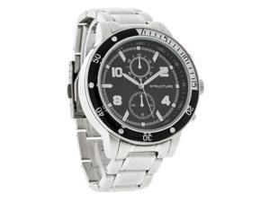Structure By Surface Mens Sport Black Dial Silver Metal Quartz Watch 32728