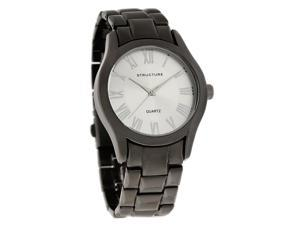 Structure by Surface Mens Classic Black Ion Finish Bracelet Quartz Watch 32821