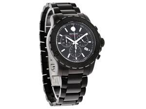 Movado Series 800 Chronograph Black PVD Stainless Steel Mens Watch 2600119
