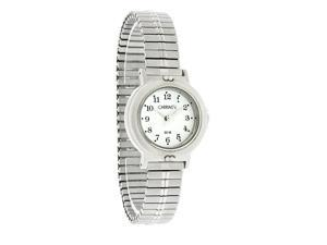 Carriage by Timex Ladies White Dial Classic SS Expansion Watch C3C352