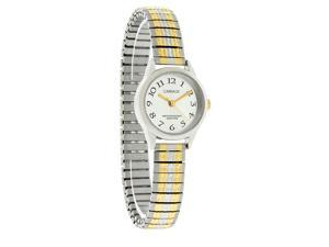 Carriage by Timex Ladies Silver Dial Two Tone Expansion Dress Watch C3C605