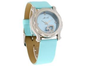 Mother & Child by Janel Russell Crystal Blue Dial Blue Strap Watch MC-100SB
