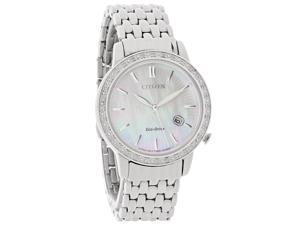 Citizen Eco-Drive Ladies Silhouette MOP Diamond Dress Watch EW2280-58D