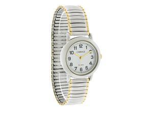 Carriage by Timex Ladies Easy Read Two Tone Expansion Stretch Band Watch C3C363