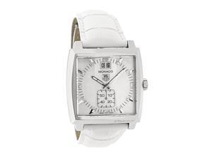 Tag Heuer Monaco Ladies Diamond White Leather Swiss Quartz Watch WAW1318.FC6247