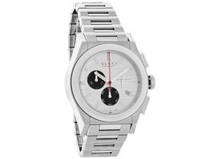 Gucci 115 Pantheon Mens Silver Date Swiss Chronograph Quartz Watch YA115236