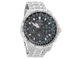 Citizen Promaster Navihawk GPS CC9030-51E Black / Silver Stainless Steel Analog Eco-Drive Men's Watch