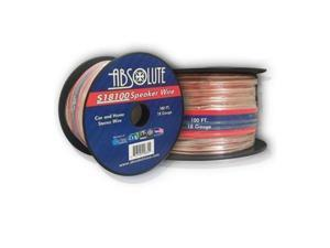Absolute S18100 100-Feet 18 Gauge Car and Home Stereo Clear Speaker Wire