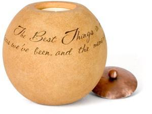 "Best Things in Life 4.5"" Round Candle Holder"