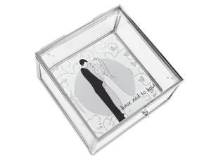 Philosophies - To Have and To Hold Wedding Glass Jewelry Box 4 Inch