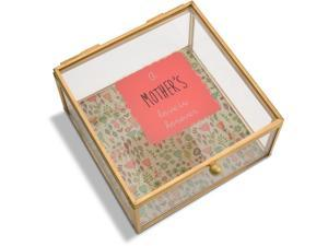 A Mother's Love - A Mother's Love is Forever Floral Glass Jewelry Box 4.25 Inch