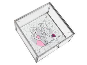 Philosophies - Special Friend Wedding Glass Jewelry Box 4 Inch