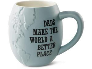 Global Love - Dads make the World a Better place Blue Ceramic Cute Coffee Mug 22 oz