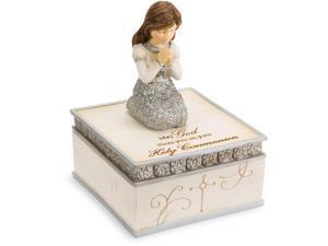 Elements - Girl Cathlic Communion Gift Keepsake Box 4 Inch