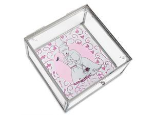 Philosophies - Flower Girl Gift Wedding Glass Jewelry Box 4 Inch