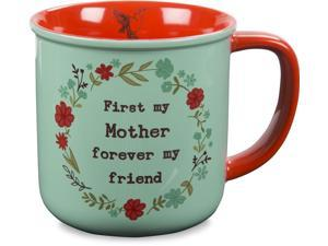 Live Simply - First my Mother Forever my Friend Humming Bird Red and Teal Coffee Mug 14 oz