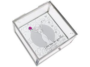 Philosophies - Beautiful Bride Wedding Glass Jewelry Box 4 Inch