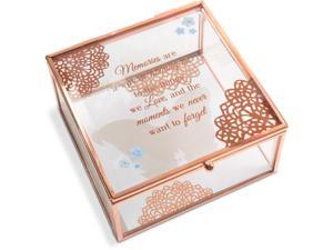Light Your Way Memorial - Memories Glass Keepsake Box