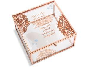 Light Your Way Memorial - Always Near, So Loved, So Missed and So Very Dear Glass Keepsake Box
