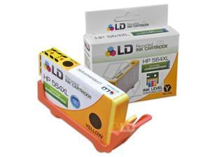 LD © Remanufactured Replacement Ink Cartridge for Hewlett Packard CB325WN 564XL / 564 High-Yield Yellow - Shows Accurate ...
