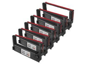 LD © Epson Compatible Replacement 6 Pack Black and Red POS Ribbon Cartridges - ERC-23BR