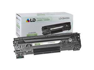 LD © Remanufactured Replacement Laser Toner Cartridge for Hewlett Packard CB436A (HP 36A) Black