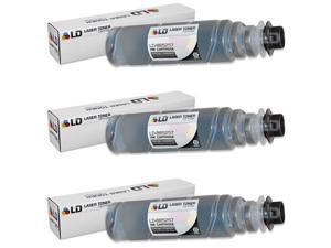 LD © Compatible Ricoh 885257 / Type 1150D Set of 3 Black Laser Toner Cartridges for Lanier, Savin, and Aficio Printers