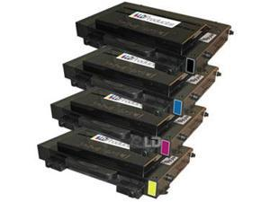 LD © 4 Compatible Laser Toners 1(Bk,C,M,Y) for use in Samsung CLP500 printers