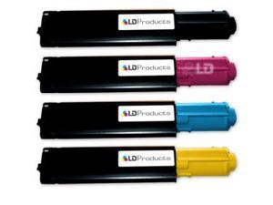 LD © Compatible Dell 3010cn Set of 4 Toner Cartridges:  1 341-3568 Black, 1 341-3571 Cyan, 1 341-3570 Magenta, and 1 341-3569 ...