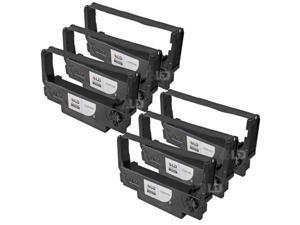 LD © Compatible 6 Pack Black POS Ribbon Cartridges for Epson ERC-30B