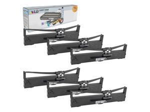 LD © Epson Compatible Replacement 6 Pack Black Printer Ribbon Cartridges - S015337 for the Epson LQ-590 Impact Printer